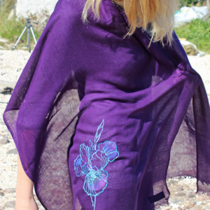Scarf: Purple Irises